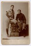 Ives (left) as pitcher for Hopkins Grammar School, 1893